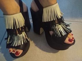 6f498d6fe0c Sandalias Plataforma Alta Con Flecos - Zapatos en Mercado Libre ...