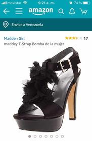 Sandalias Alto Madden Girl Talla Tacón 5 Negras Marca 7 eIHDE2W9Y
