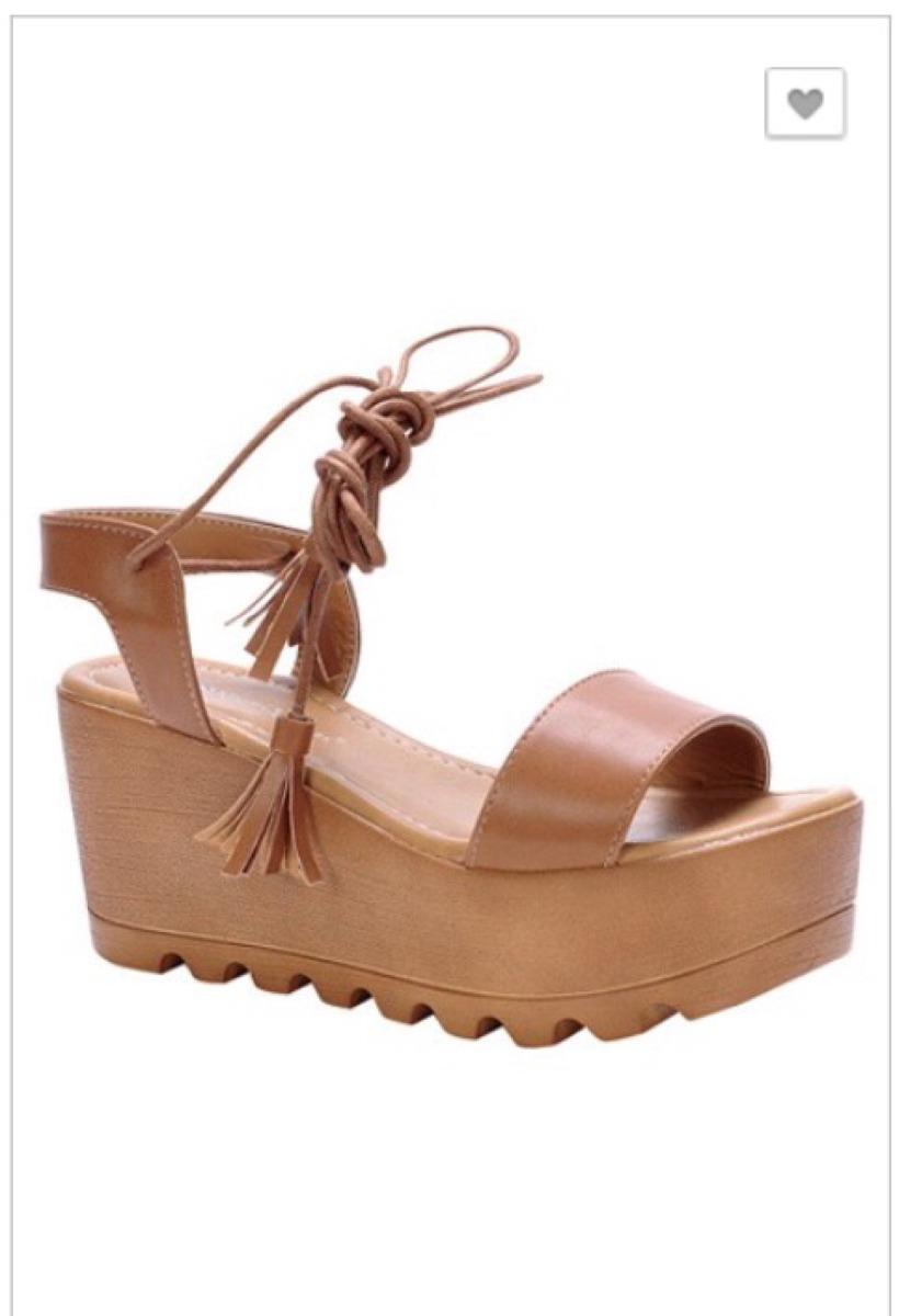 sandalias tacon corrido trenzadas importadas de los angeles