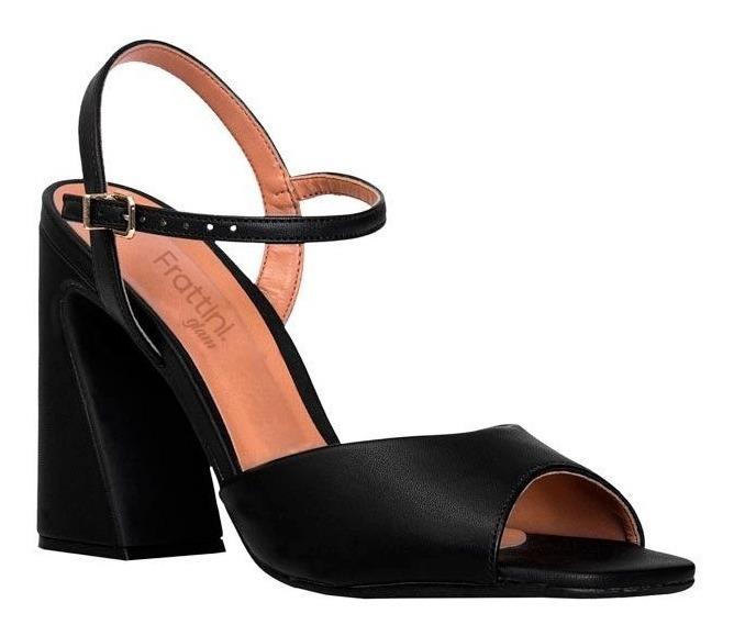 Sandalias Glam Para Tacón NegroRojo 64031 Frattini Mujer 3R4Lj5A