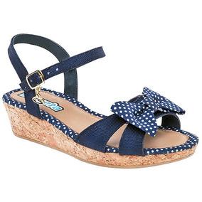 Mercado Tacón Bajo Cuadrado Sandalias Zapatos Ninas Oscuro En Azul T3lF1JKc