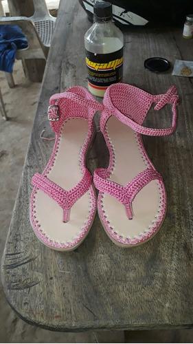 sandalias tejidas