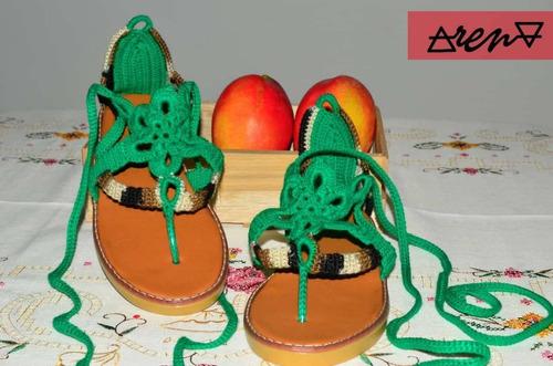 sandalias tejidas a crochet