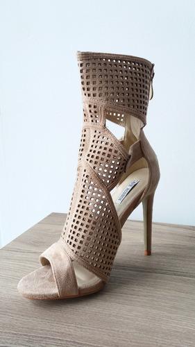 sandalias tipo bota corte laser con tacon alto elegantes
