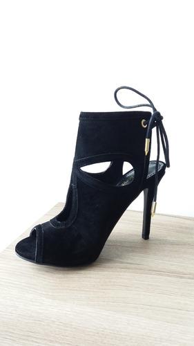 sandalias tipo bota de vestir con tacon alto con cordon