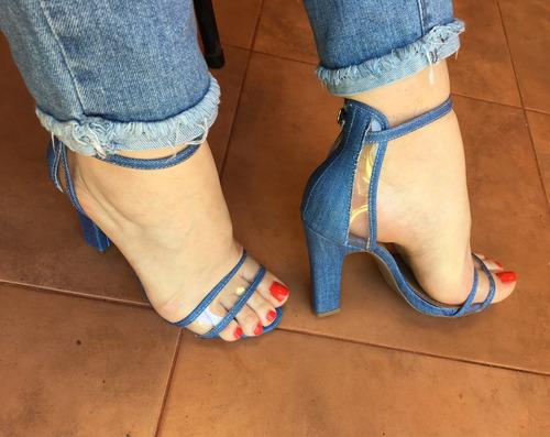 sandalias tipo jeans