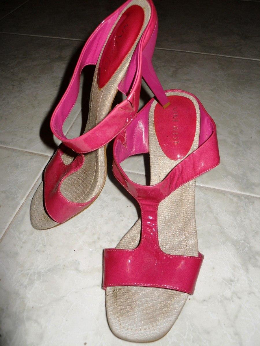 sandalias usadas nine west rosadas talla 37ymedio*.