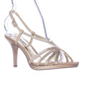 Oscuro Vestidos Zapatos Para Usar Cortos Dorado En Con Sandalias yN80wOvnm