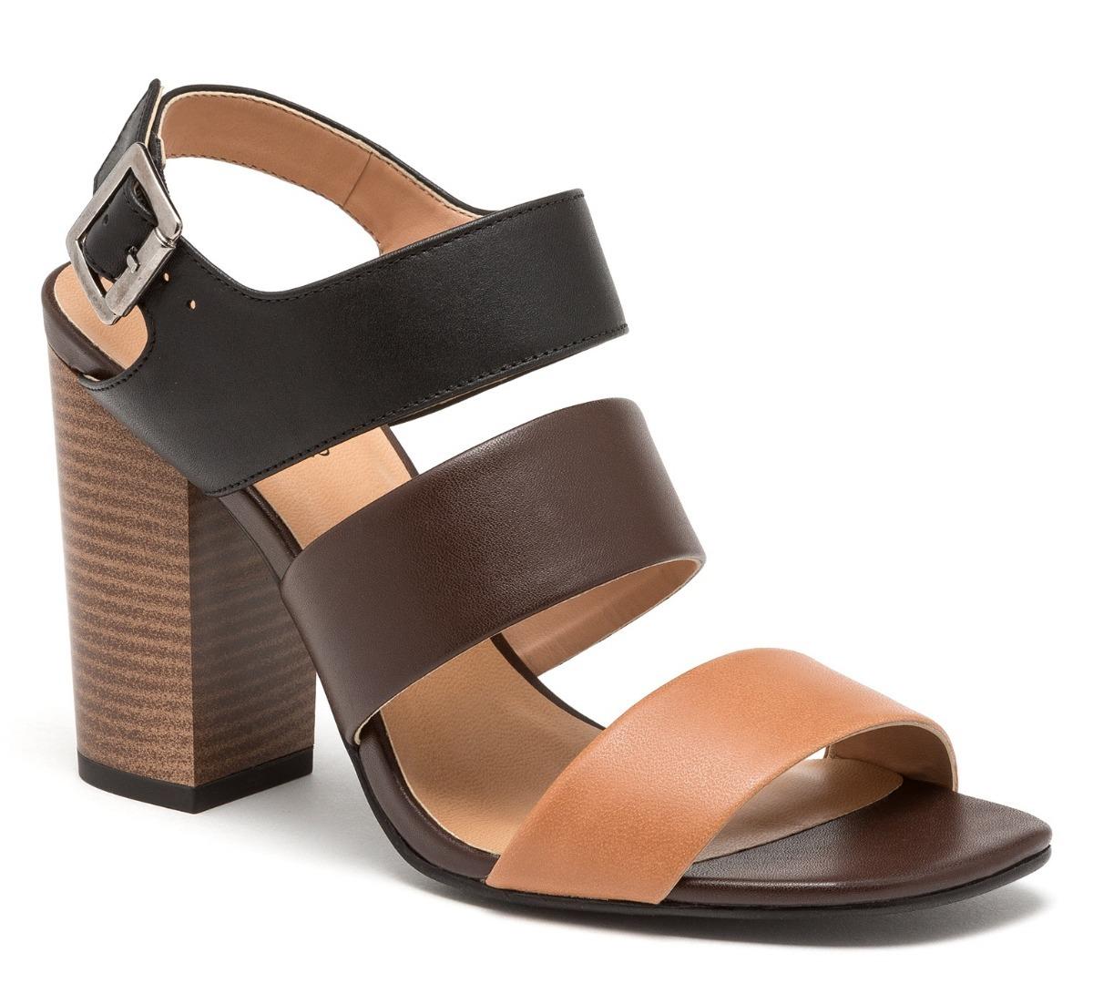 020b2b50fe4 sandalias zapatillas andrea de piel negras cafés tacón ancho. Cargando zoom.