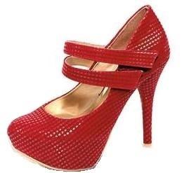 sandalias zapatillas y calzado rojos dama moda actual