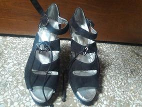 Alta Sandalias Tacon Zapatos Dama Talla Zapatillas Suela 36 m0vwON8n