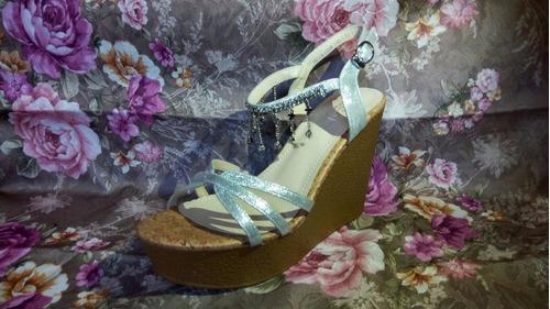 sandalias zapato importadas taco chino fiesta ,  qilaixing