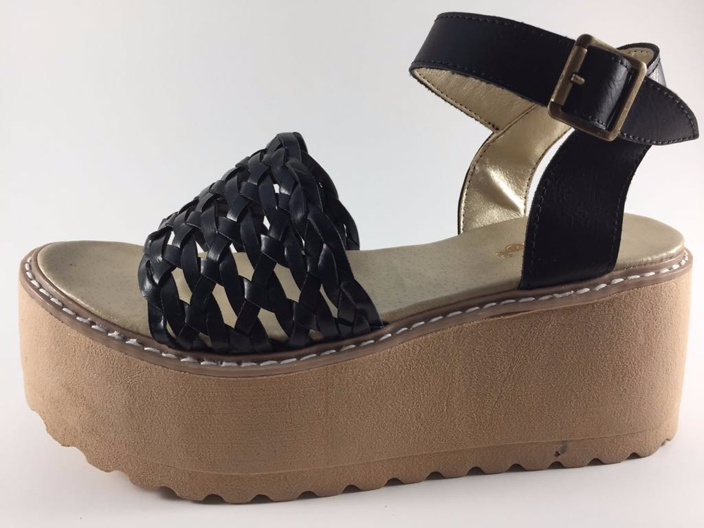 518b2d942b9 Sandalias Zapato Mujer Alta Taco Alto Nueva Temporada Negras -   660 ...