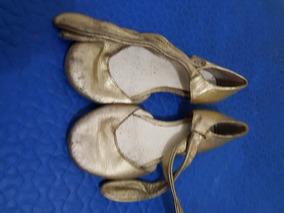 Guillerminas De Zara Doradas Sandalias Zapatos Cuero j5AR34Lq