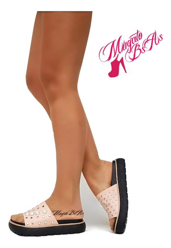 sandalias zapatos mujer chatas de goma mugato bsas®