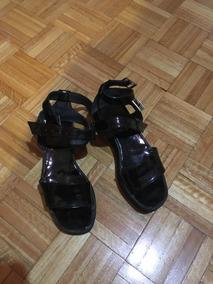 Charol Negras Plataforma 36 Zapatos Sandalias Goth TKlJF1c3