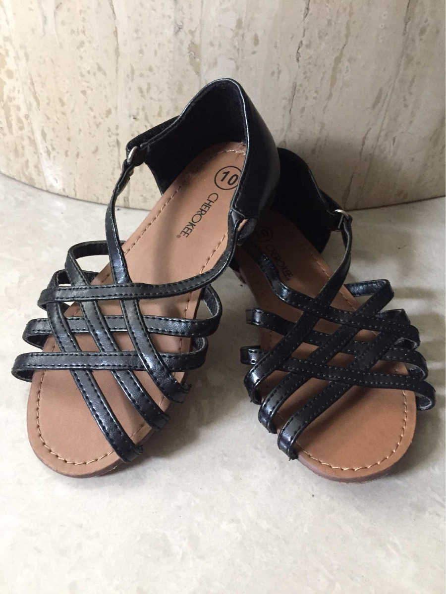 2727c808bc214 Sandalias Zapatos Niñas Negras Bebe Importadas Cherokee - Bs. 18.000 ...