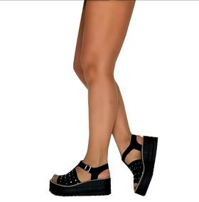 Verano Sandalias Zapatos Tachas Mujer Plataforma Hebillas XOPknw80NZ