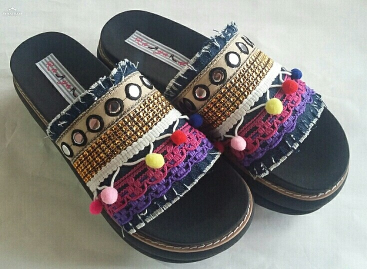Sandalias Zuecos Hippie Chic Boho Chic Rayadá -   1.000 8919d39a0c9