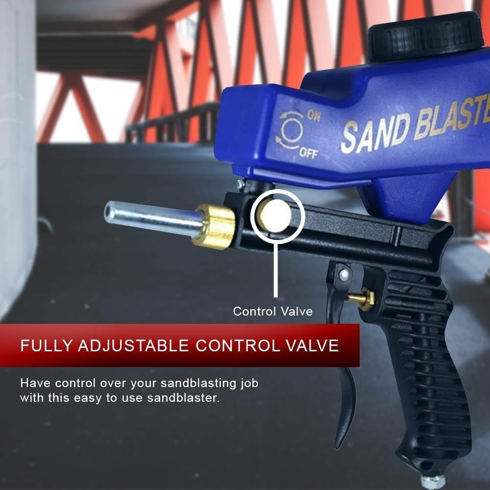 Sandblaster Sand Blaster Gun Kit, Soda Blaster, Professional