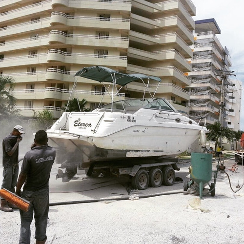 sandblasting o chorro de arena para barcos lanchas botes