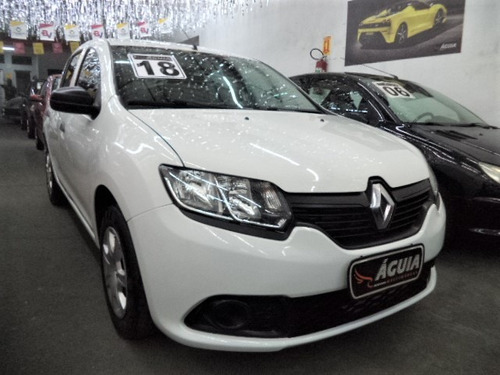 sandero 1.0 flex 12v sce 2018 completo + airbags + abs + mp3