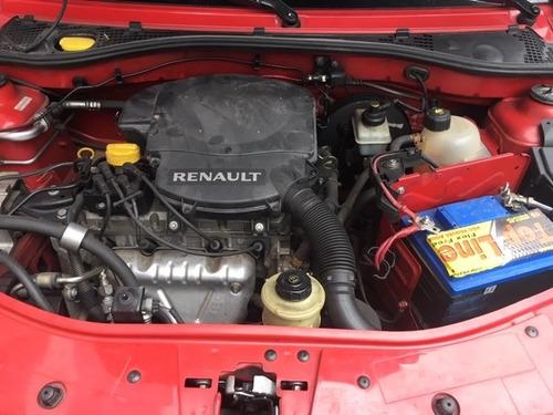 sandero 1.6 - expression - 2012 - vermelho - flex