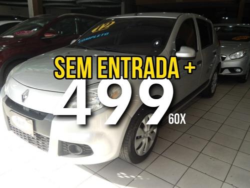 sandero 2012 1.6 **sem entrada + 499 mensais (60x)**