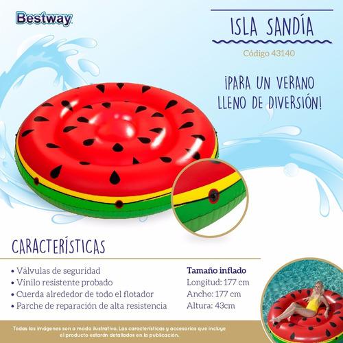 sandia gigante inflable watermelon 43140 1,77 m bestway pc