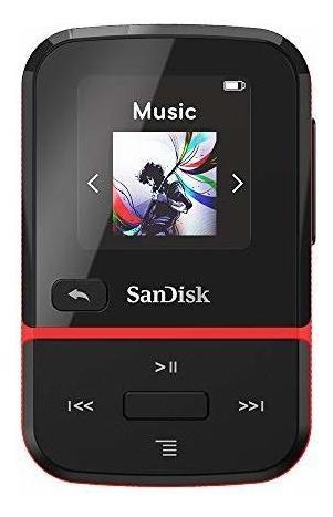 sandisk 32gb clip sport go reproductor de mp3, rojo - pantal