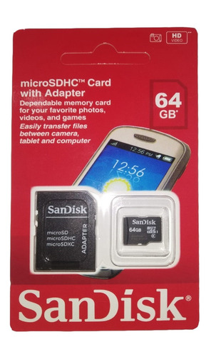 sandisk 64gb cartão micro