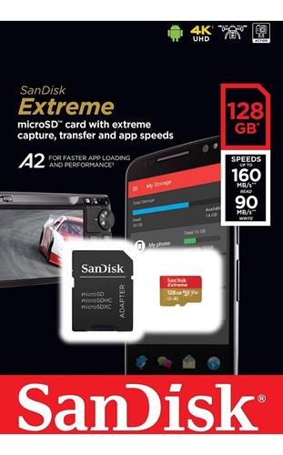 sandisk extreme 128gb micro sd u3 a2 4k go pro 2019 ganga