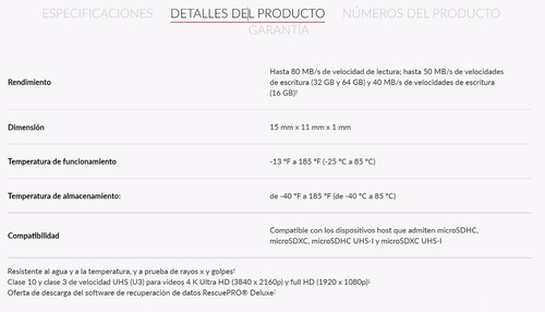 sandisk extreme plus microsdhc sdxc uhs-i 32gb tarjeta micro