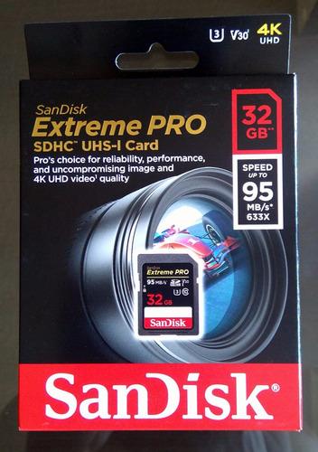 sandisk extreme pro 32gb sdhc 95mb/s 4k