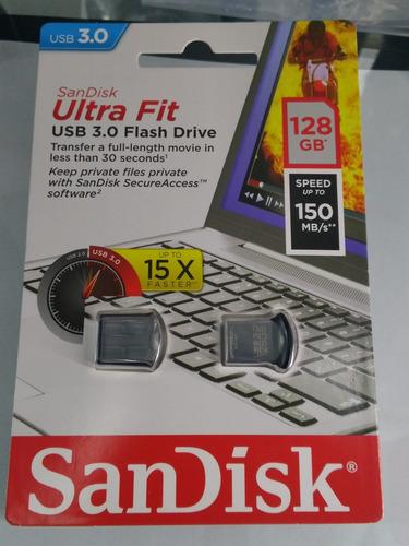 sandisk flash usb 3.0 ultra fit de 128 gb
