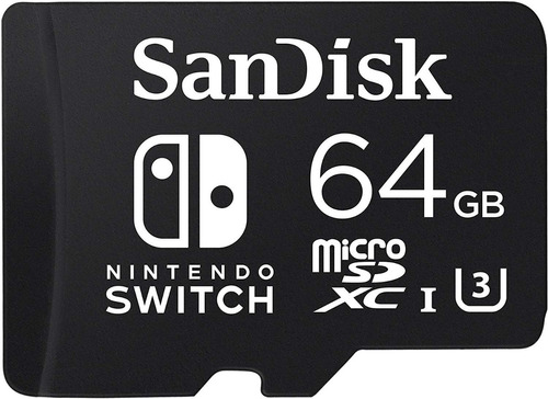 sandisk memoria 64gb micro sdxc para nintendo switch oficial