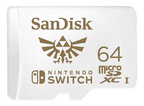 sandisk micro sd xc u3 v30 4k 64gb para nintendo switch