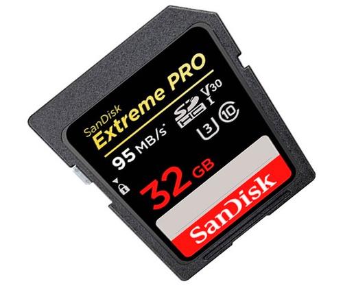 sandisk sd extreme pro 90m/s u3 4k 95mb/s 32gb v30 garantia