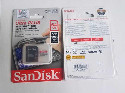 sandisk ultra plus 64gb micro sdxc uhs-i full hd video