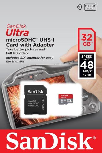 sandisk ultra tarjeta micro sdhc 32gb 98mb/s c10 u1 a1 d3c