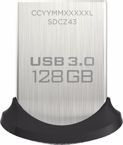 sandisk - unidad flash usb tipo a de 128gb ultra fit