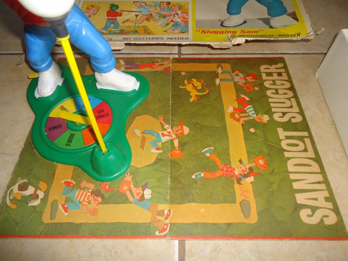 sandlot slugger milton bradley 1968 juego vintage baseball +