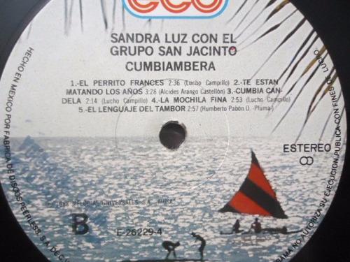 sandra luz con el gpo. san jacinto / cumbiambera lp