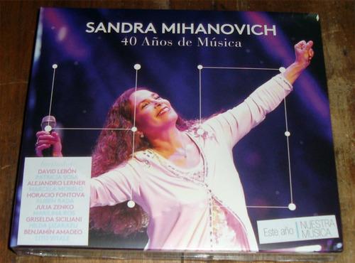 sandra mihanovich 40 años de musica cd + dvd nuevo / kktus