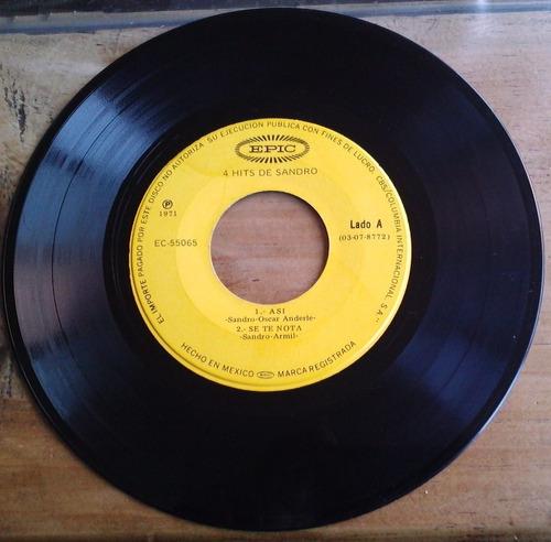 sandro 4 hits acetato ep 7 pulgadas rarisimo 1971  fn4