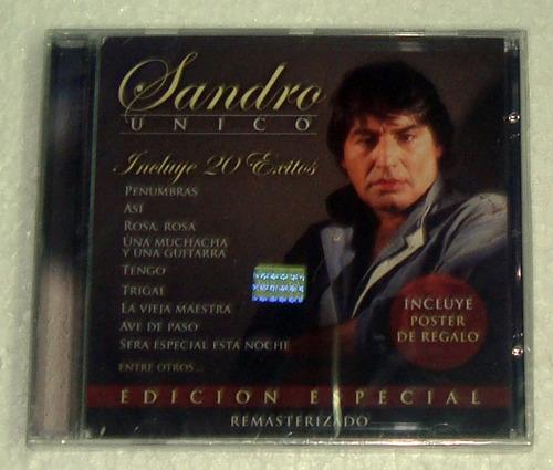 sandro unico 20 exitos cd sellado