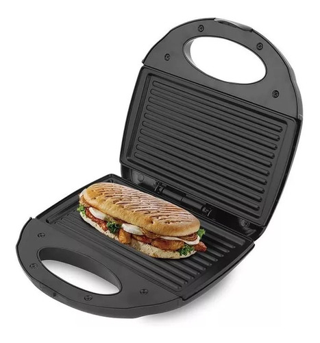 sanduchera antiadherente tipo panini kalley, garantía 2 años