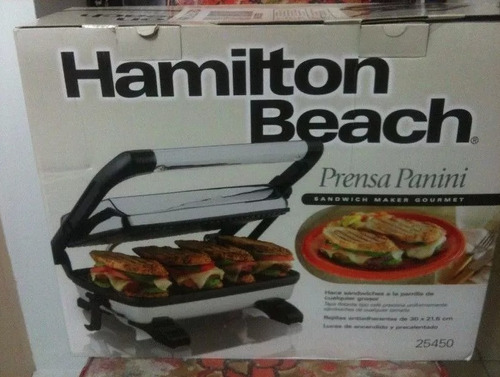 sanduchera hamilton beach panini grill 25450