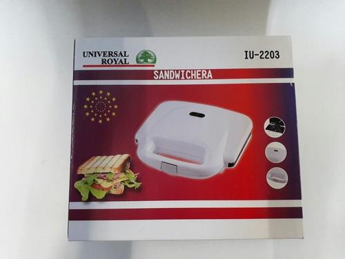 sanduchera iu-2203b universal royal, 2 puestos antiadherente