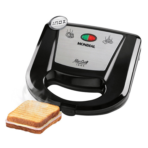 sanduicheira e grill mondial mac inox s-11 110v